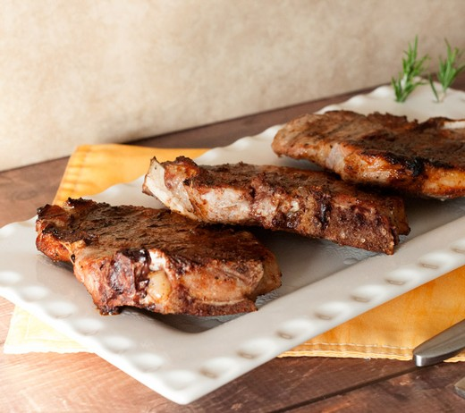 SPICE RUBBED GRILLED PORK CHOPS